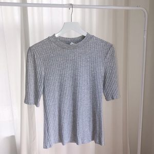 Grey & Other Stories fitted turtle neck t-shirt